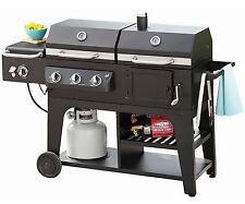 New Big Hybrid Gas Charcoal Grill BBQ Infrared Burner LP Propane Iron Grates