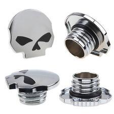 Aluminum Chrome Skull Gas Petrol Fuel Cap For Harley Davidson Sportster Softail