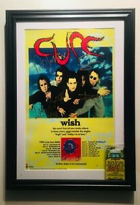 The Cure SIGNED PROMO POSTER Framed w/Show Pass, COA and Press documents