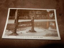 Early RP Hertfordshire postcard - Old stocks & whipping post - Aldbury Nr Tring