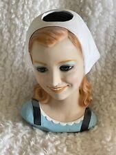 "Vintage Lady Head Vase World Gift Japan 6"""