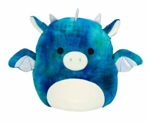 """Squishmallows Dominic the Dragon Girls Boys Cat Plush 7"""" Kids Soft Comfy Toy"""