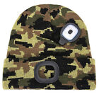 LED Beanie Hat with Light,Knit Lighted Unisex Hands Free 4 LED Headlamp Cap @