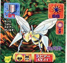 POKEMON STICKER Carte JAPANESE 50X50 1997 NORM@L N° 218 BEEDRILL DARDARGNAN
