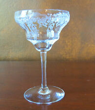 Fostoria Lily of the Valley Etch #241 Stem #879 Liquor Cocktail Goblet(s)