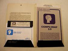 RARE, Classic, Compu-Read 3 by Edu-Ware for Apple II Plus, Apple IIe, IIC, IIGS