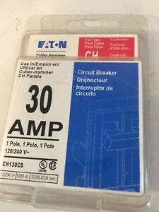 NEW Eaton 30 Amp Circuit Breaker CH130CS ~FREE SHIPPING   (BF1)