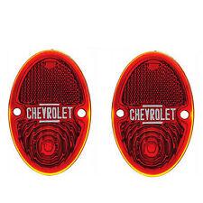 33 34 35 36 Chevy Pickup Truck Red Tail Light Glass Lens Lenses 1933-1936 Pair