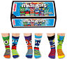 UNITED ODDSOCKS THE MASHERS SIX MONSTER FACED ODD SOCKS FOR BOYS UK SIZE 12 - 6