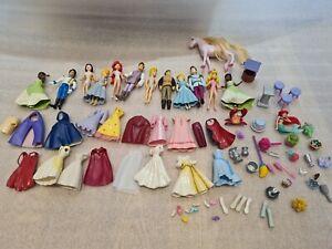 Disney Parks Polly Pocket Large Bundle Princesses & Princes Rubber Dress