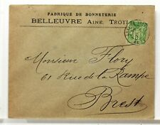 SA199  TYPE SAGE SUR LETTRE ANCIENNE OBLITERATION GARE  GARE  19°SIECLE