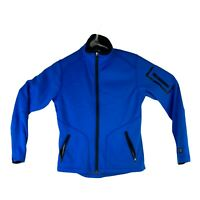 OGIO Womens Size XS Solid Blue Minx Electric Track Long Sleeve Zip Up Jacket