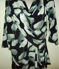 Ladies Worthington floral top Size 1X, polyester/spandex