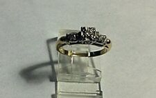 ANTIQUE  14kt  Yellow & White Gold DIAMOND Engagement Ring