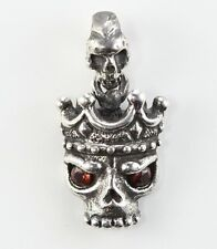 Crown Skull Sterling Silver Pendant