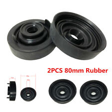2Pcs 80mm Rubber Car LED Headlight Housing Extended Dust Cover Bulb Seal Cap