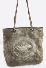 Converse All Star purse/handbag Tote Shopper Brown Silver Shoulder Bag