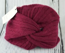 A New Day Women's Textured Turban Beanie Hat Slouchy Cap Head Wrap Burgundy OS