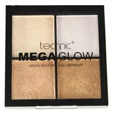 Technic Mega Glow Highlighter & Illuminator Palette Cream Champagne Gold Silver