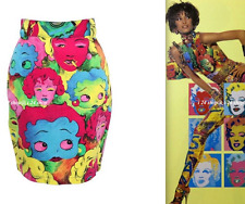 NWOT VINTAGE GIANNI VERSACE JEANS COUTURE MARILYN MONROE BETTY BOOP SKIRT -40/4