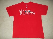 Majestic Roy Halladay Philadelphia Phillies Red #34 Large Adult Shirt