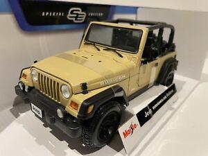 Maisto 1:18 Jeep Wrangler Rubicon Die cast Model Vehicle Great Price Collectors