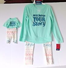 """AMERICAN GIRL MATCHING GIRLS AND DOLL PAJAMAS 18"""" DOLL TENNEY SIZE S 7/8"""