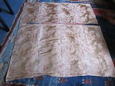 2 x curtain, light upholstery ,remnant, Colefax fowler Lucius red/gold 50 & 85cm