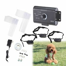 New listing Electric Dog Fence System Water Resistant w/ 3 Shock Collars