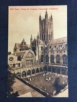 RP Vintage Postcard - Kent #15 Canterbury Cathedral, Bell Harry Tower & Cloister