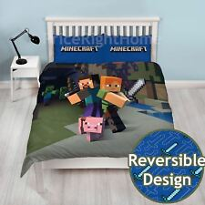 MINECRAFT DOUBLE DUVET COVER SET NEW OFFICIAL BEDDING