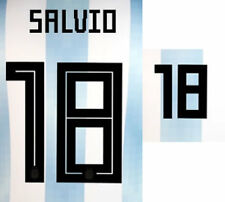 Salvio 18 - 2018 bloque de nombre de la Copa del Mundo para Argentina Home = Tamaño Adulto