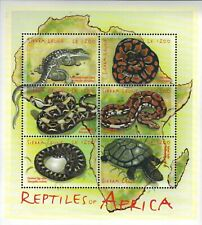 MODERN GEMS - Sierra Leone - Reptiles of Africa - Sheet of 6 Stamps - MNH