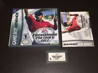 Tiger Woods PGA Tour Golf Nintendo Game Boy Advance GBA w/Case & Manual