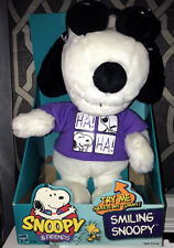 """13"""" Laughing Smiling Snoopy Plush Toy W Shades NEW IN Box Hasbro 1999 JOE COOL"""