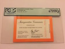 2017 PRESIDENT Donald Trump INAUGURATION Ticket Orange VIP LAWN PASS Pence PCGS