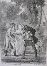 1881 Eau-Forte illustration contes La Fontaine sur Hollande Touzé T. de Mare