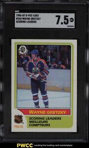 1986 O-Pee-Chee Hockey Wayne Gretzky SCORING LDRS #260 SGC 7.5 NRMT+