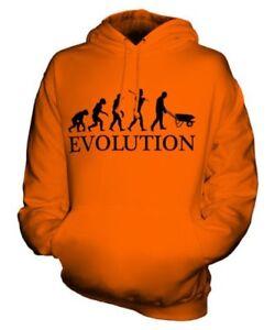 LANDSCAPE GARDENER EVOLUTION OF MAN UNISEX HOODIE MENS LADIES GIFT GARDENING