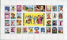 Tintin - Hergé - Feuillet faux timbres - 50° Anniversaire