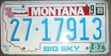 USA MONTANA  car Bicentennial number plate 27 17913