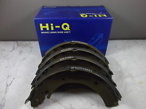 HI-Q SSANGYONG ACTYON UTE 2.7L TURBO DIESEL PARKING HAND BRAKE SHOE PAIR SET