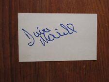 "DINA MERRILL(Died-'17)(""True Colors/Operation Petticoat"")Signed 3 x 5 Index Card"