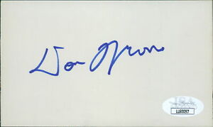 Donnie Moore Chicago Cubs Signed 3x5 Index Card JSA Authenticated