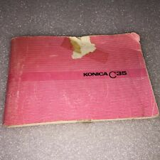 VINTAGE KONICA C35 CAMERA INSTRUCTION BOOKLET