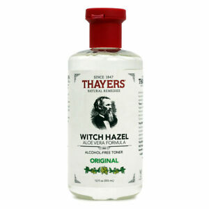 Thayers Witch Hazel Aloe Vera, Original - 12 fl oz FRESH, FREE SHIPPING