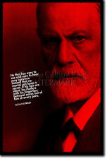 SIGMUND FREUD ART PRINT PHOTO POSTER GIFT QUOTE PSYCHOTHERAPHY THERAPIST
