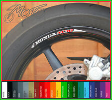 8 x HONDA NC30 WHEEL RIM STICKERS DECALS - vfr 400 vfr400r rvf rvf400 vfr400