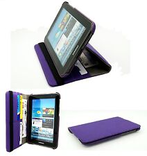 Purple Matt Textile Rotating Folio Case Cover Samsung P3100 Galaxy Tab2 7.0""