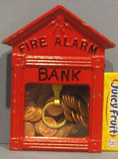 BIG PRICE CUT * 1930's/50's SMALL GAMEWELL FIRE ALARM BOX BANK, CAST IRON MM17